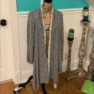 Free People Grey Cozy Cardigan Size Small